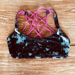 LULULEMON Free To Be Wild Bra Static Blossom 8